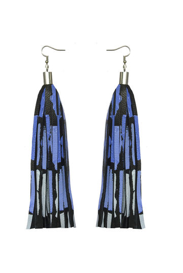 Bright New Dawn earrings | blue/grey