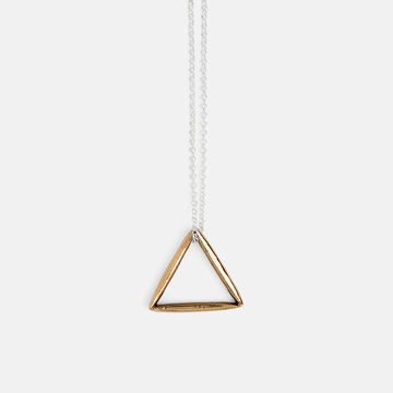 Triangle necklace | bronze