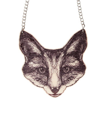 The Fox necklace | black