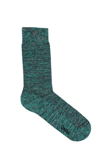Socks twisted rib | green