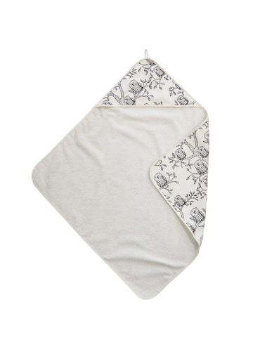 Hooded baby towel | owls