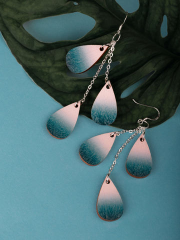 Drop earrings mini | peony blue