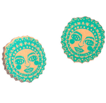 Sunny mini earrings | mint/peach