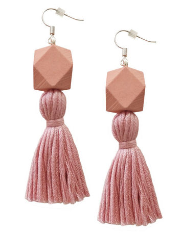 Wou earrings | pink on pink