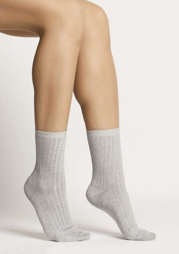 Organic cotton socks | grey melange