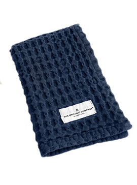 Big waffle kitchen and wash cloth | dark blue