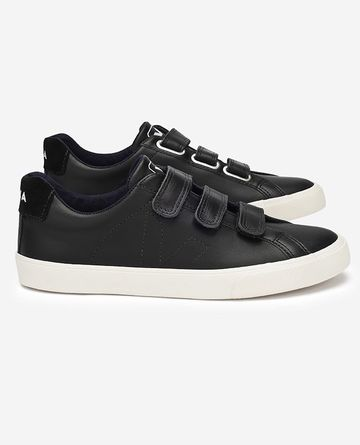 Man sneaker | 3-Lock leather black