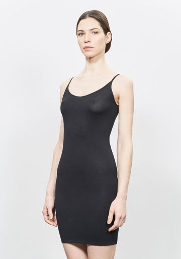 Slip dress with silverplus enrichment | black