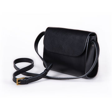 ELVI crossbody bag | black soft leather