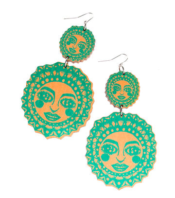 Sunny dangle earrings | mint/peach