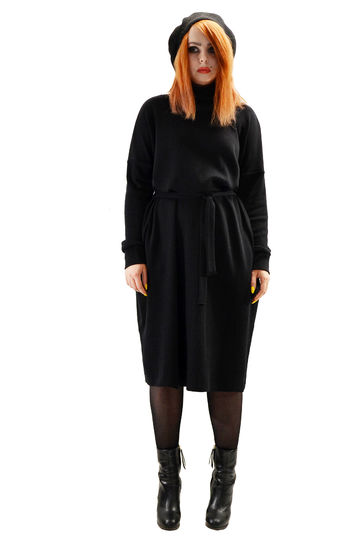 Ilse merino wool dress | black