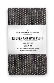 Kitchen & Wash cloth | dark grey pique