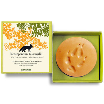 Ketunpennun tassunjälki organic soap | sea buckthorn-bergamot orange 85g