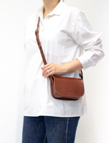 LAURA small cross body bag | brown
