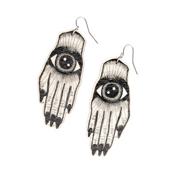 Artisan earrings small | black