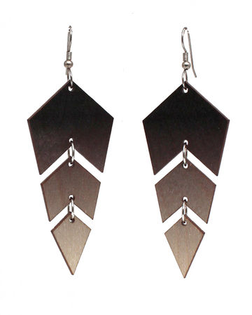 Ombre earrings | black/wood