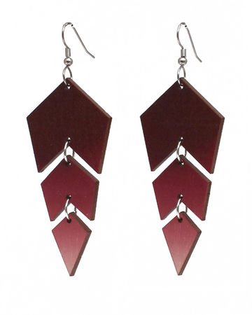 Ombre earrings | red/rose