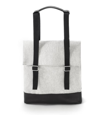 Small tote | raw blend leather canvas