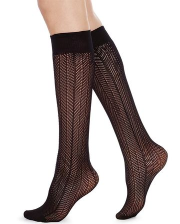 Astrid fishnet knee high sock | black