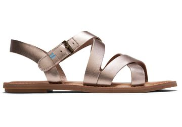 Sicily sandaalit | rose gold metallic leather