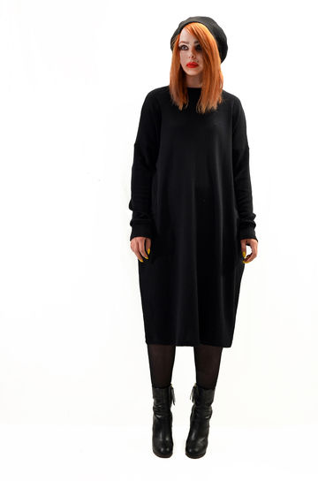 Unne merino wool dress | black