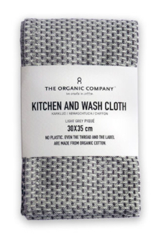 Kitchen And Wash Cloth | Light Grey Pique