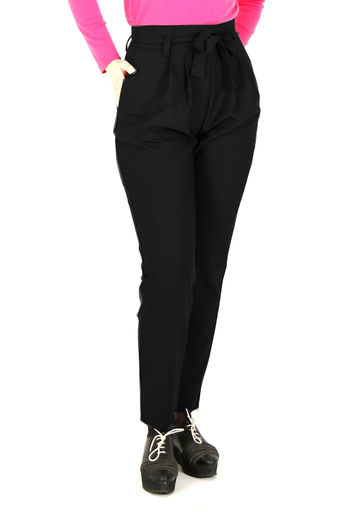 Paper bag trousers | black