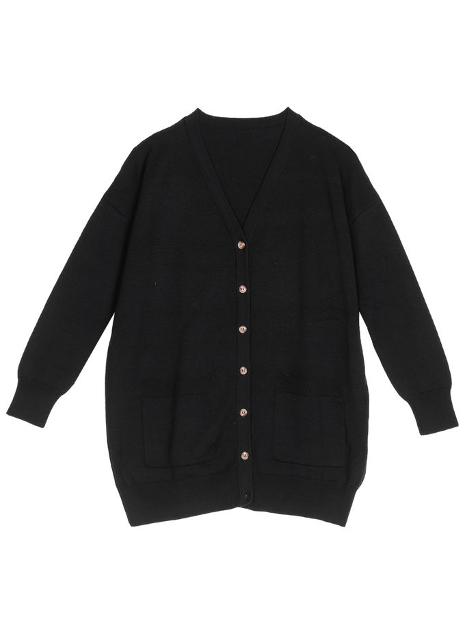 Edith knitted cardigan | black