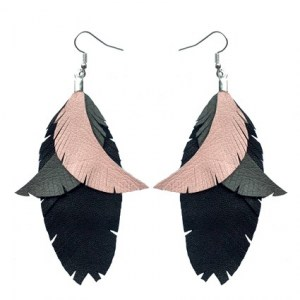 Color Me Up earrings | pink/grey/black