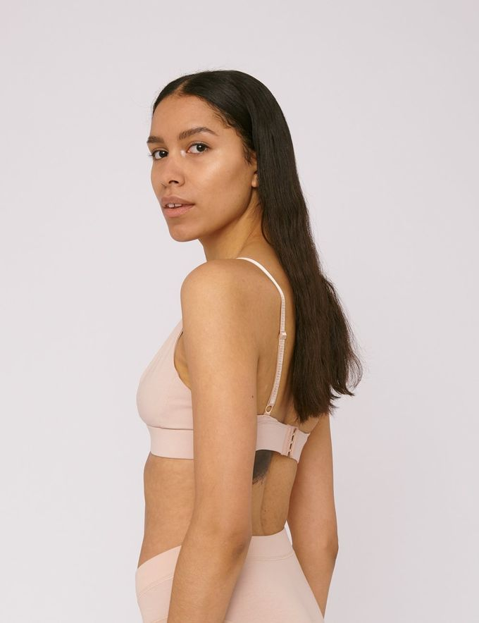 Triangle bra | rose nude