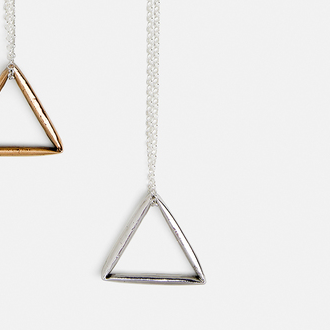 Triangle necklace | silver