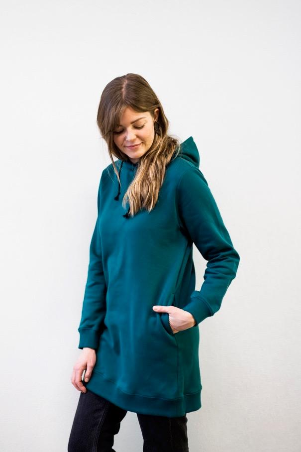 Hoodie dress | ocean green