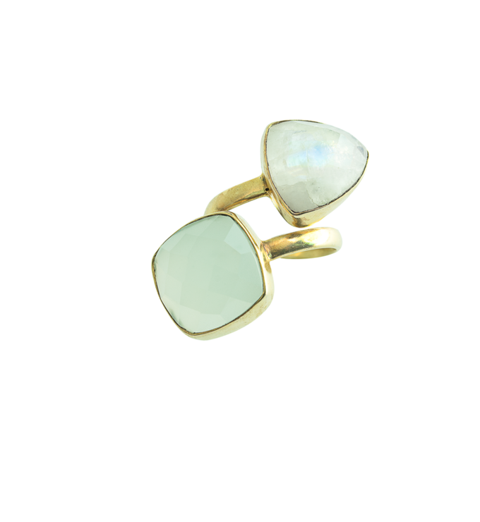 Heli chalcedony ring | gold