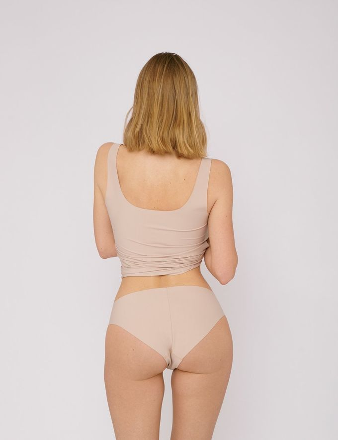 Invisible cheeky briefs 2-pack | rose nude