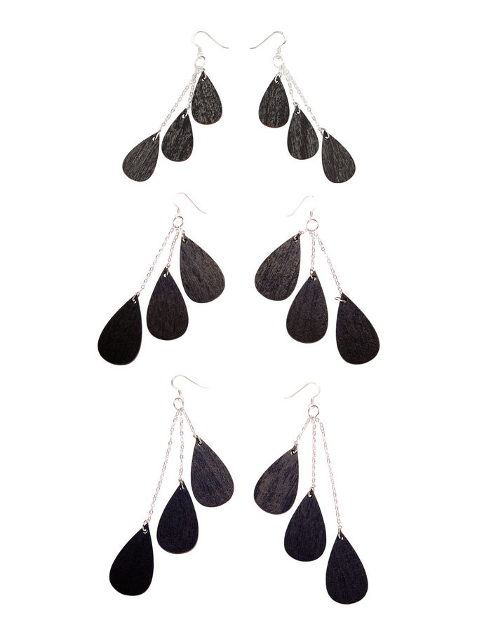 Drop earrings mini | black