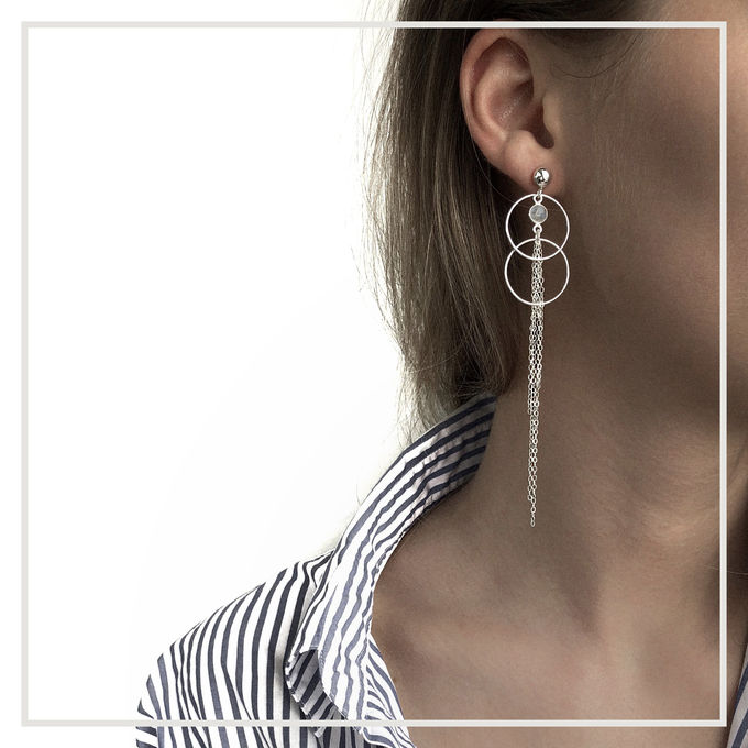 Nimue earrings | silver