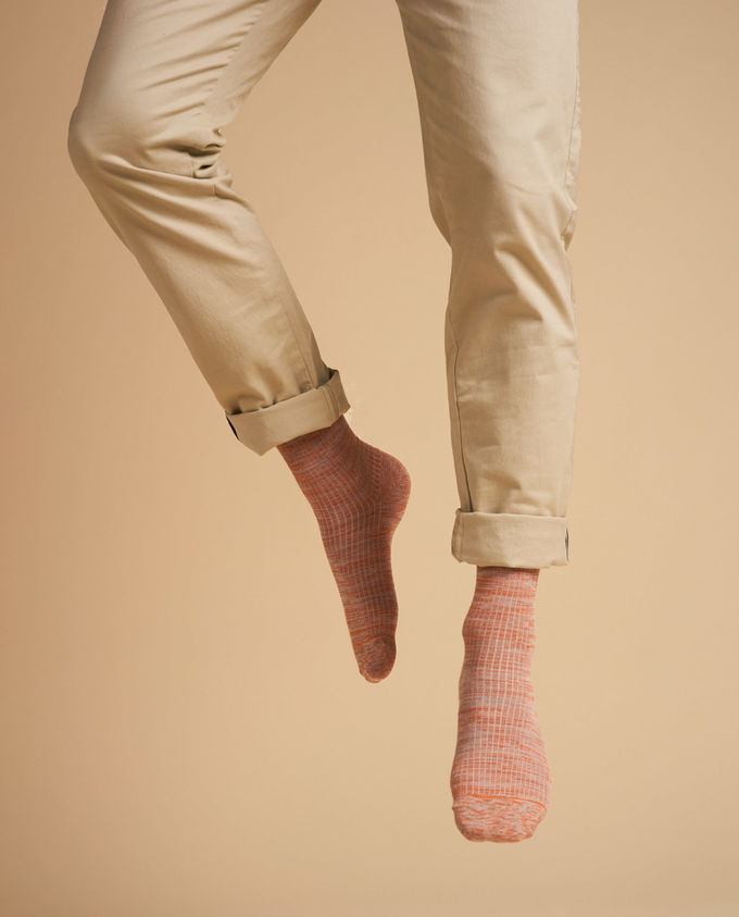 Socks twisted rib | orange
