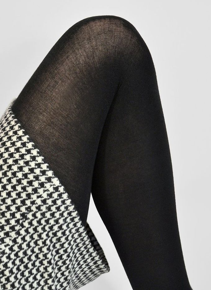 Alice premium cashmere tights knit | black