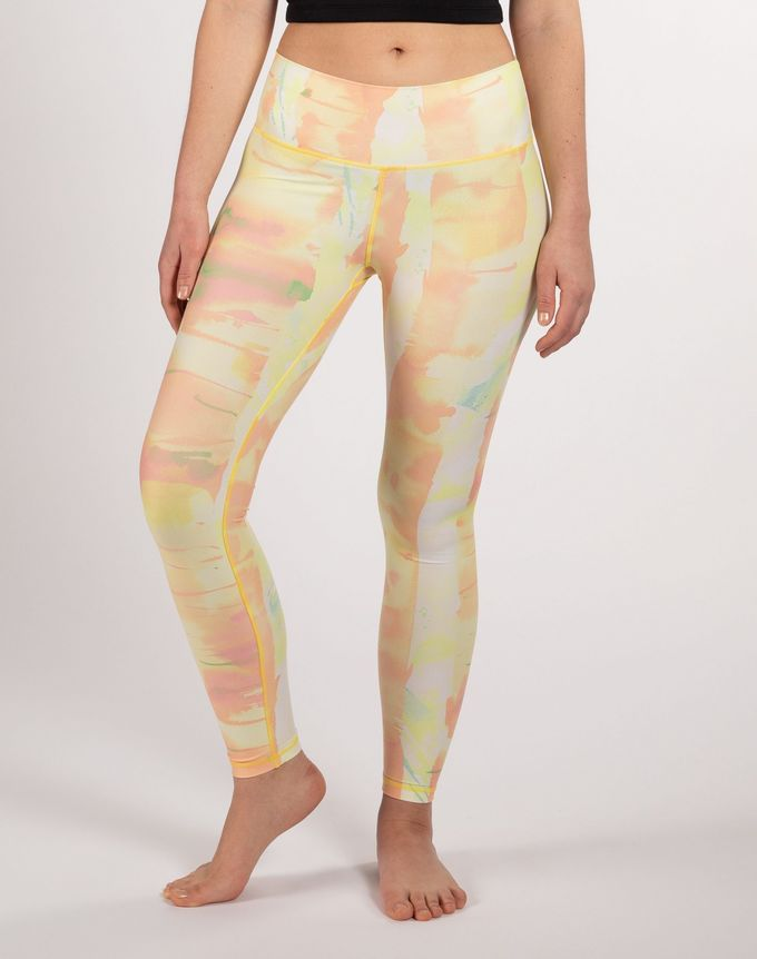 Soahki weeping birch leggings | yellow