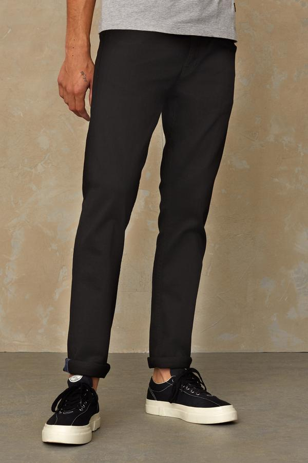 Charles mid rise slim | stay black rinse