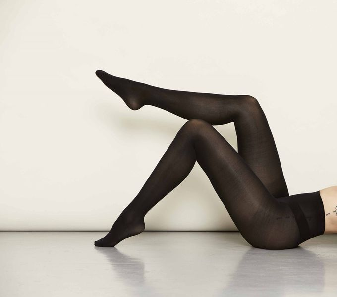 3D pantyhose 2-pack | all black