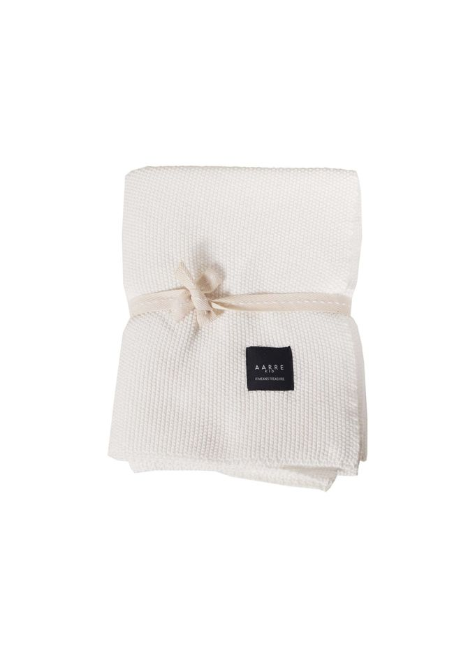 Knit blanket | natural white