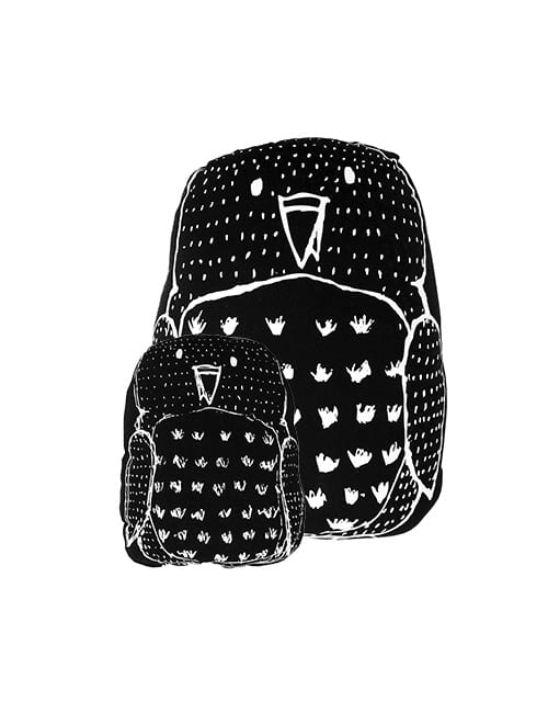 Small owl pillow | black