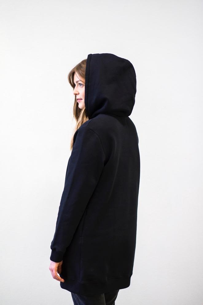 Hoodie dress | black