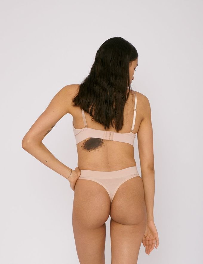 Thong 2-pack | rose nude