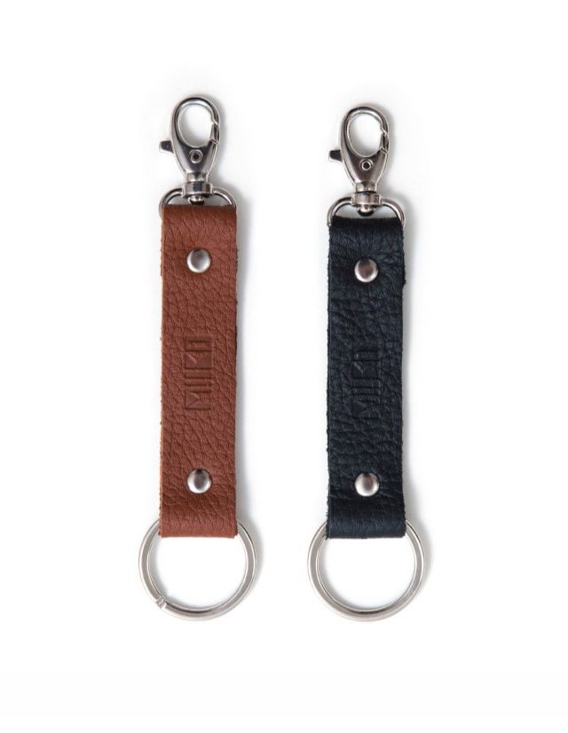 Keychain | brown elk leather
