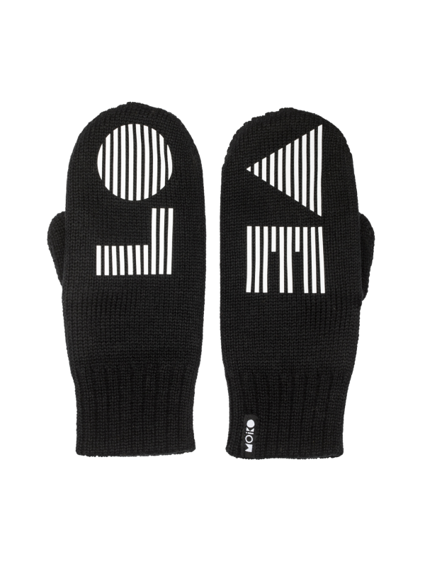 LO-VE double layer mittens | black