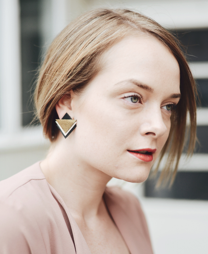 Special earrings | gold/nude/black